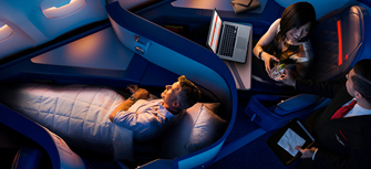 Delta One Business class reservations call 08009997474