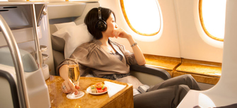 Emirates Business class & First class reservations call 08009997474
